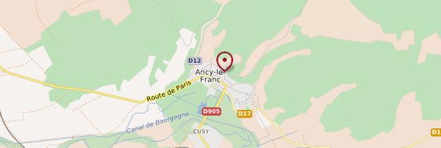 Carte Ancy-le-Franc - Bourgogne
