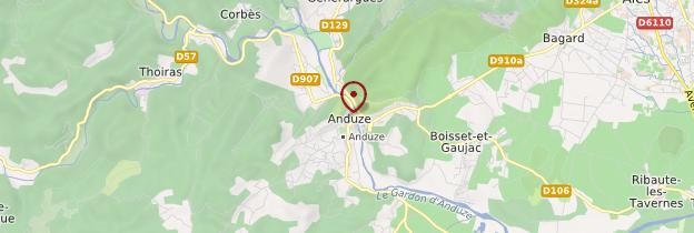Carte Anduze - Languedoc-Roussillon