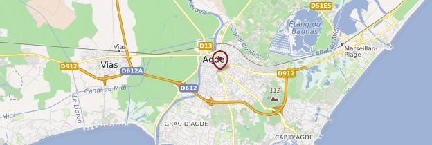 Carte Agde - Languedoc-Roussillon