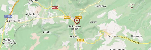 Carte Salins-les-Bains - Franche-Comté
