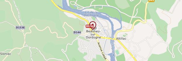 Carte Beaulieu-sur-Dordogne - Limousin
