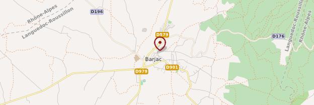 Carte Barjac - Languedoc-Roussillon