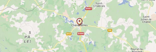 Carte Chénérailles - Limousin