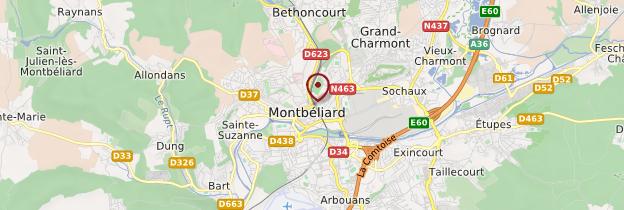 Carte Montbéliard - Franche-Comté