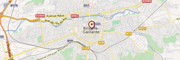 Carte Brive-la-Gaillarde - Limousin