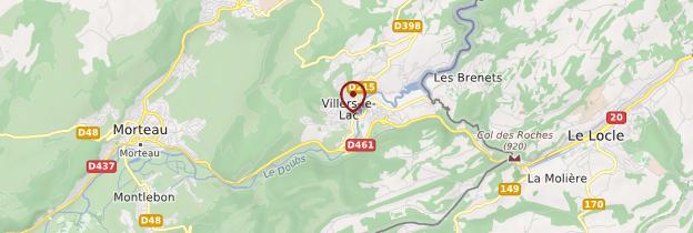 Carte Villers-le-Lac - Franche-Comté