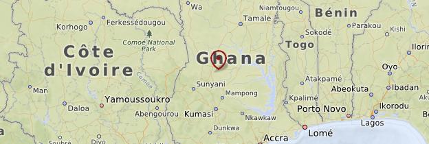 Carte Brong-Ahafo - Ghana