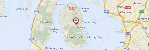 Carte Île d'Arran - Écosse