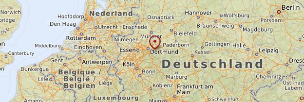 Carte Rhénanie du Nord - Westphalie - Allemagne