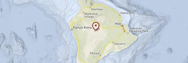 Carte Île d'Hawaii - Hawaii