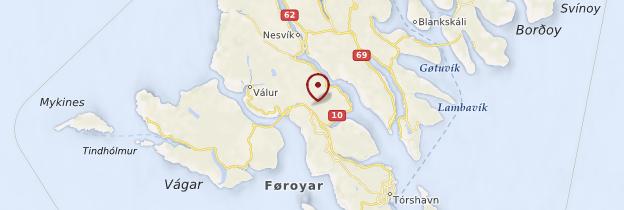 Carte Îles Féroé - Danemark