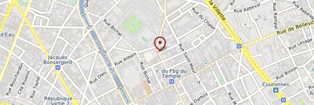 Carte 10ème arrondissement - Paris