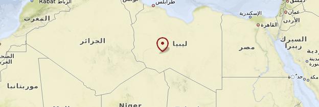 Carte Désert libyen - Libye
