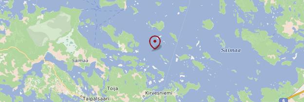 Carte Région du lac Saimaa - Finlande