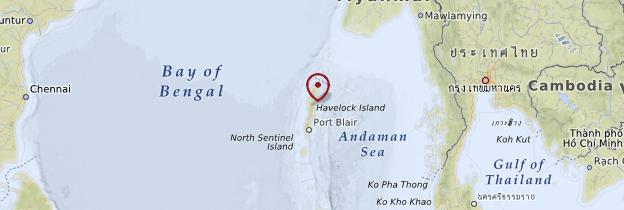 Carte Îles Andaman et Nicobar - Inde