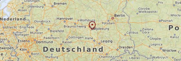 Carte Saxe et Saxe-Anhalt - Allemagne