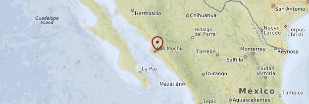 Carte Ligne Los Mochis - Chihuahua - Mexique