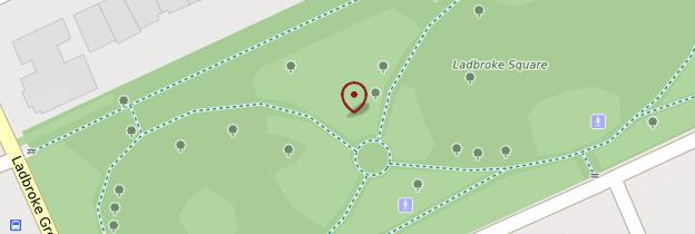 Carte Holland Park et Kensington - Londres