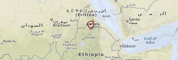 Carte Tigré - Éthiopie