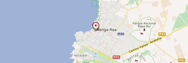 Carte Hanga Roa - Île de Pâques