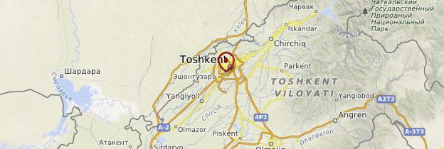 Carte Tashkent - Ouzbékistan