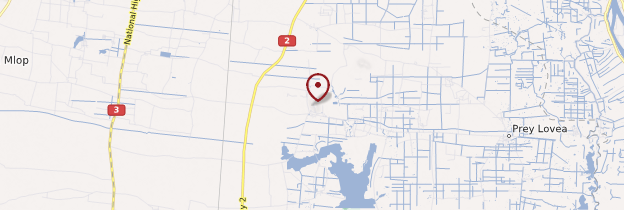 Carte Phnom Chisor - Cambodge