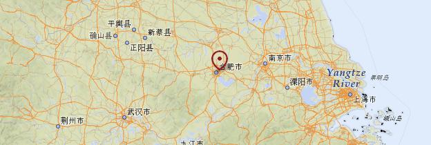 Carte Anhui - Chine