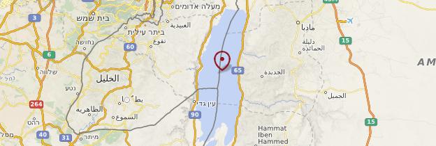 Carte Mer Morte et environs - Israël, Palestine
