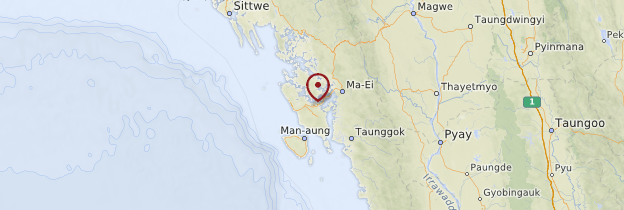 Carte Golfe du Bengale - Birmanie