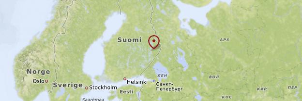 Carte Carélie - Finlande
