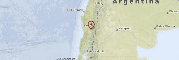 Carte Araucanie et Los Lagos - Chili