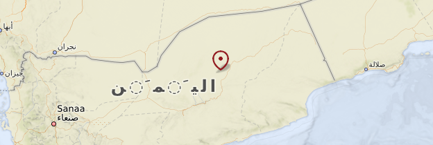 Carte Hadramaout - Yémen