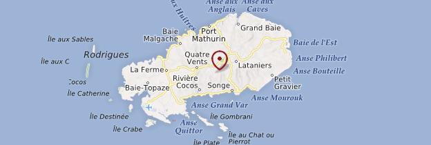 Carte Île Rodrigues - Île Maurice, Rodrigues