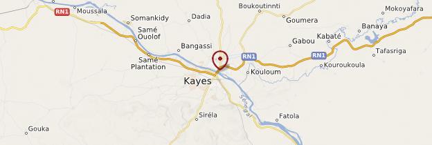 Carte Kayes - Mali