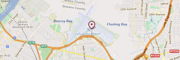 Carte Aéroport de La Guardia - New York