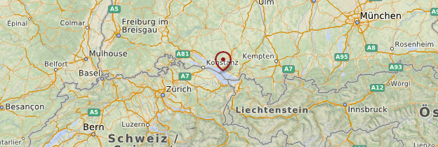 Carte Vorarlberg - Autriche