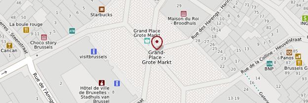 Carte Grand-Place - Bruxelles