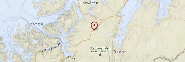 Carte Finnmark et Laponie - Norvège