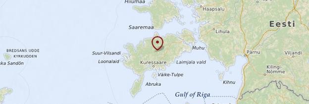 Carte Île de Saaremaa - Estonie