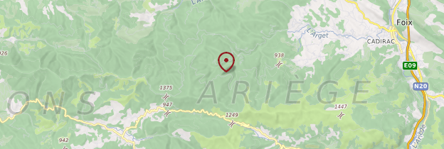 Carte Ariège - Midi toulousain - Occitanie