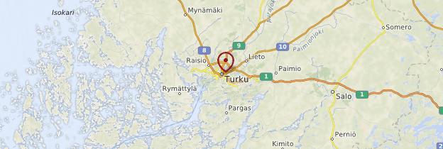 Carte Turku et ses environs - Finlande