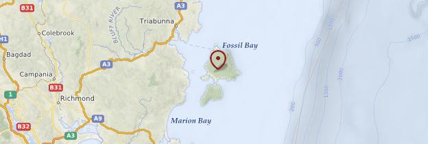 Carte Maria Island National Park - Tasmanie
