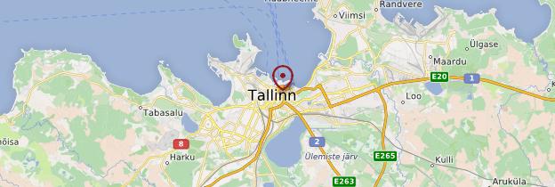Carte Tallinn - Estonie