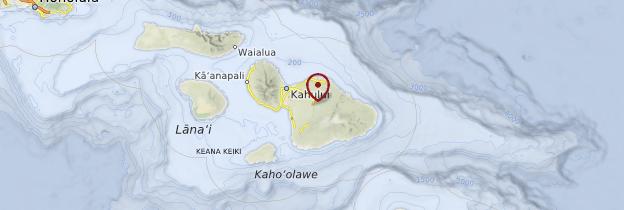 Carte Île de Maui - Hawaii