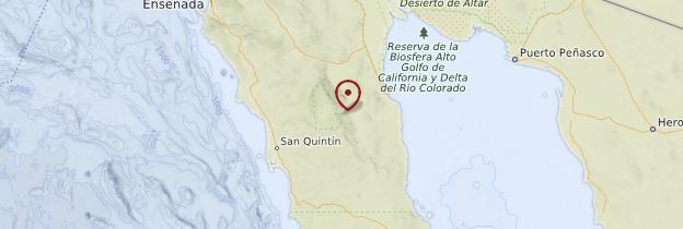 Carte Basse-Californie - Mexique