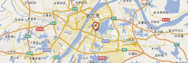 Carte Hubei - Chine