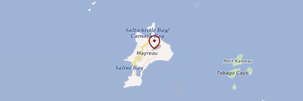 Carte Île de Mayreau - Saint-Vincent-et-les-Grenadines