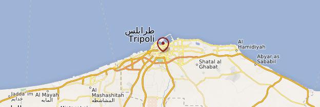 Carte Tripoli - Libye
