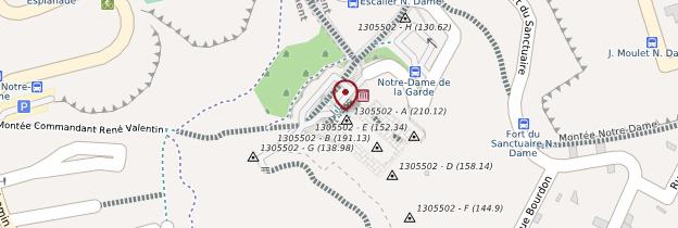 Carte Notre-Dame-de-la-Garde - Marseille