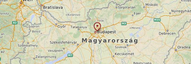 Carte Environs de Budapest - Hongrie